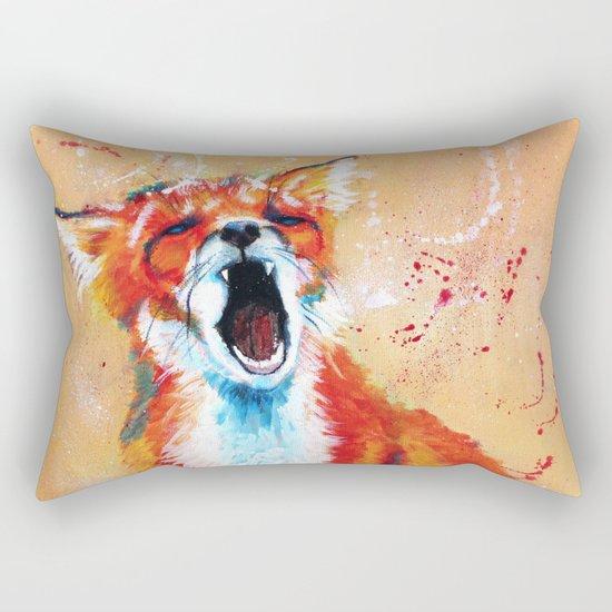 Sleepy Fox Rectangular Pillow