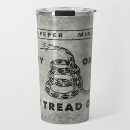 Culpeper Minutemen flag, Worn distressed textues Travel Mug