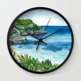 Menorca blue lagoon Wall Clock
