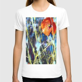 Abstract Poppies T-shirt