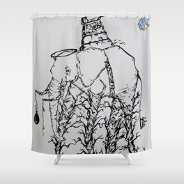 An event of extinction after the party Shower Curtain