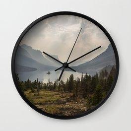 Panoramic Landscape Mountains & Lake Wall Clock