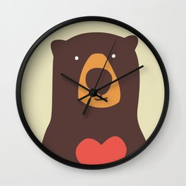 Hearty bear hug Wall Clock