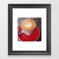 I Heart Coffee Framed Art Print