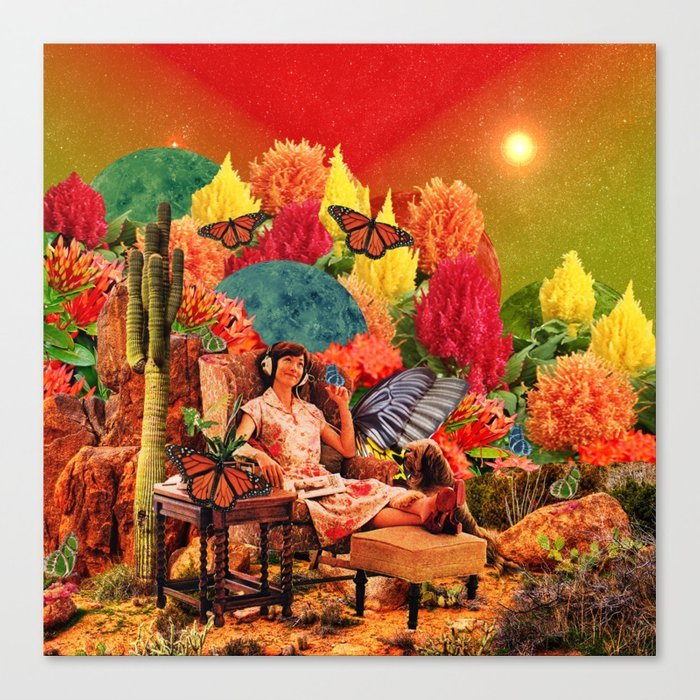 Feel the music Canvas Print
