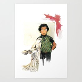 A BOY IN THE WILD Art Print