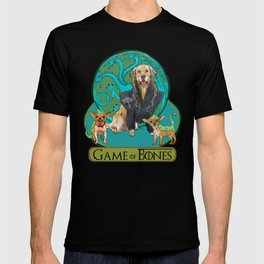 Game of Bones Dany with her dragons T-shirt
