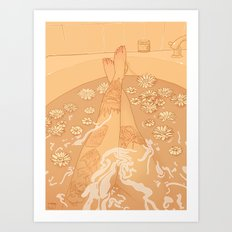Flower Bath 10 (uncensored version) Art Print