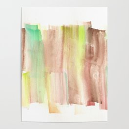 [161228] 22. Abstract Watercolour Color Study |Watercolor Brush Stroke Poster