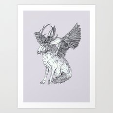 The Wolpertinger Art Print