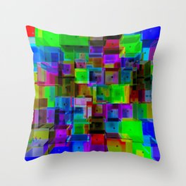 Rooms Two Throw Pillow