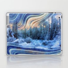 Surreal winter forest Laptop & iPad Skin