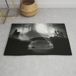 """But Death was cunning"" Deathly Hallows Rug"