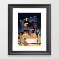 Horror Double Feature Framed Art Print