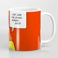 lichtenstein Mugs featuring Cheryl Carol Charlene Lichtenstein by tmwt