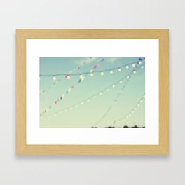 magical summer nights Framed Art Print