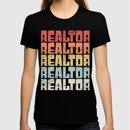 Retro 70s REALTOR Text T-shirt