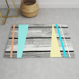 Colored arrows on wood texture Rug
