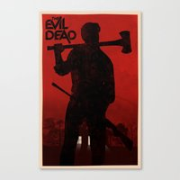 evil dead Canvas Prints featuring The Evil Dead by Bill Pyle