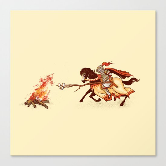 Marshmallow Joust Canvas Print