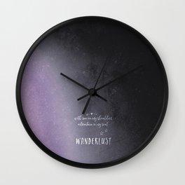 wander {violet Wall Clock