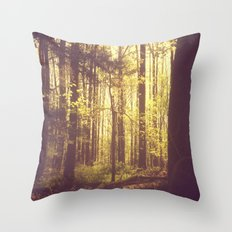She Experienced Heaven on Earth Among the Trees Throw Pillow