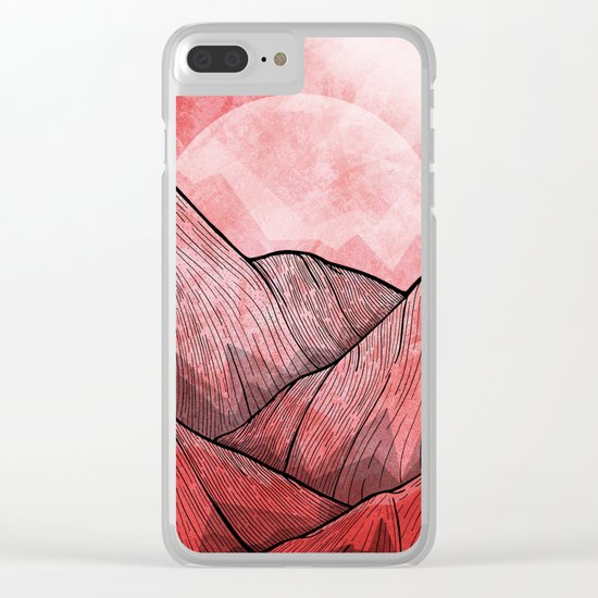 The Red Mountains Clear iPhone Case