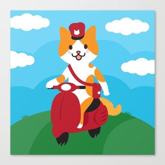 Postcat Canvas Print