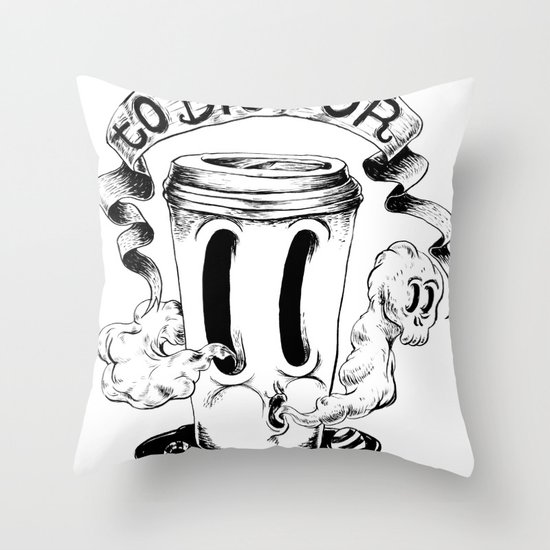 BLACK COFFEE Throw Pillow