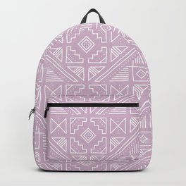Stamped Geometric - Lilac Backpack