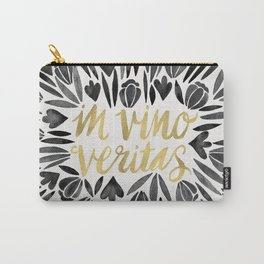 In Wine, There is Truth – Black & Gold Carry-All Pouch