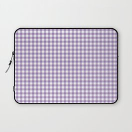 Geometric modern violet white checker stripes pattern Laptop Sleeve