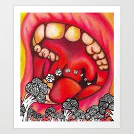 Mouth Art Print