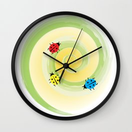 Bugs on the Vine Wall Clock