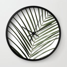 Palm Leaves 8 Wall Clock