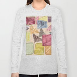 Colorful square abstract pattern Long Sleeve T-shirt