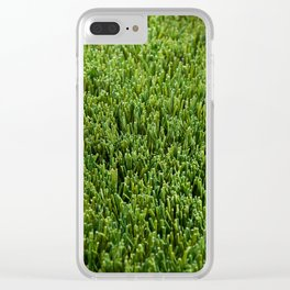 Abstract background artificial green grass Clear iPhone Case