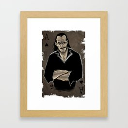 The Real Ace of Spades Framed Art Print
