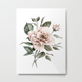 Faded Pink Rose Metal Print