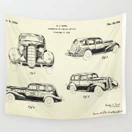 Automobile-1934 Wall Tapestry