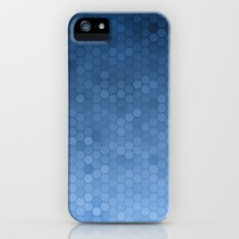 Blue Hexagons iPhone Case