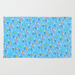 Sailor Mercury Pattern / Sailor Moon Rug
