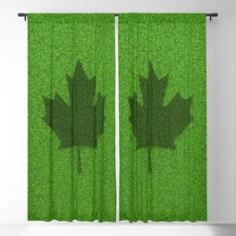 Grass flag Canada / 3D render of Canadian flag grown from grass Blackout Curtain