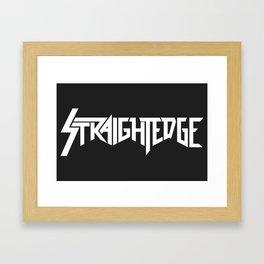 Straight Edge Metal Logo Framed Art Print
