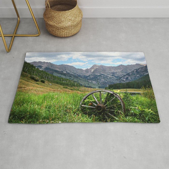 Wagon Wheel Rug By Stillsweetphotography
