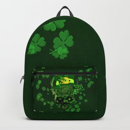 Happy st. patrick's day, funny skull  Backpack