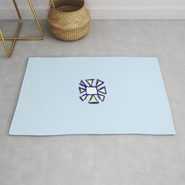flower and square Rug