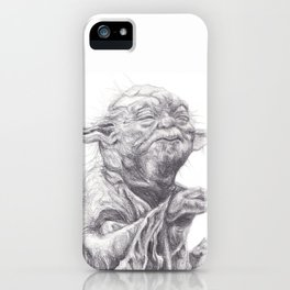 Yoda sketch iPhone Case