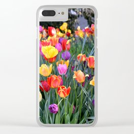 VIBRANT BOUQUET OF TULIPS - SPRINGTIME FLOWERS Clear iPhone Case