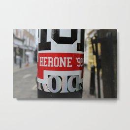 Herone '999 | London Stickers Metal Print